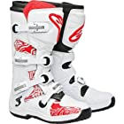Alpinestars Tech 3 Boots , Primary Color: White, Size: 10, Distinct Name: White/Red Swirls, Gender: Mens/Unisex 201307-230-10