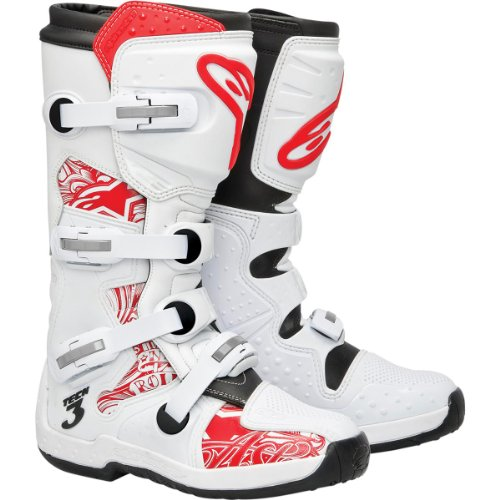 ALPINESTARS TECH 3 CARBON MX OFFROAD BOOTS WHITE/RED 8