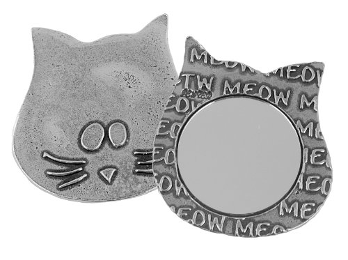 Crosby & Taylor Lucy Kitty Pewter Purse Mirror