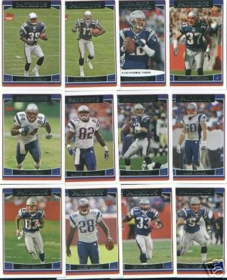 Buy 2006 Topps New England Patriots Football Card Team Set of 12 Cards including Tom Brady, Laurence Maroney, and Jackson!