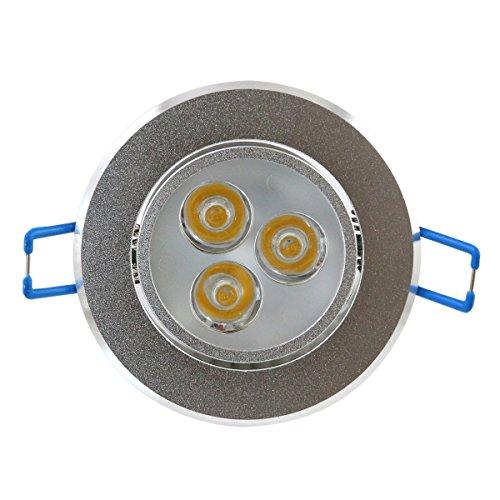 Dnlight® 3W 3 X 1W 3 Leds Cool White Light Round Recessed Ceiling Lamp Downlight 7000K-9000K 100V-240V Ac