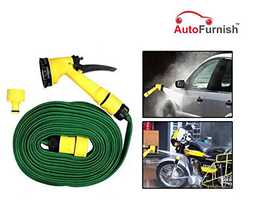 Autofurnish Washing Spray Jet Gun For Cars Bikes And Garden 10M (Green)