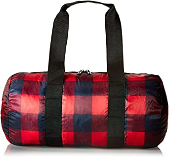 Herschel Supply Co. Packable Duffle, Buffalo Plaid/Black, One Size
