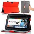 MoKo Slim-Fit Multi-angle Folio Cover Case for Google Nexus 10 Android Tablet by Samsung, RED (with Smart Cover Auto Wake/Sleep Feature)