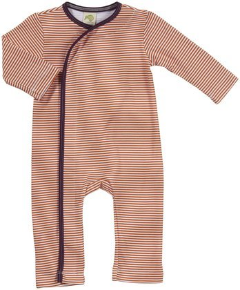 Kiwi Crossover Romper (Baby) - Striped Marigold-6-12 Months kiwi w15082731895