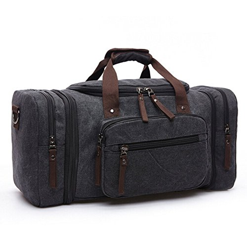 Toupons-208-Large-Canvas-Travel-Tote-Luggage-Mens-Weekender-Duffle-Bag