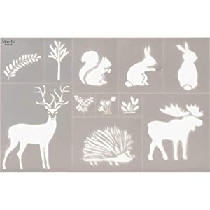 Martha Stewart 17643 Laser-Cut Woodland Animals Stencil (Color: Not Applicable)