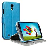 Samsung Galaxy S4 i9500 Low Profile Covert Branded PU Leather Wallet Case / Cover / Pouch / Holster - Light Blueby Covert