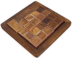 Set of 4 -Handmade Wooden Rectangular Tangram Jigsaw Puzzle Puzzle - Indian Puzzle Game for Adult and Children -5