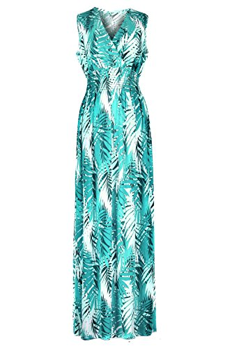 Chic Women's Spring & Summer Printed Jersey Maxi Dress(DRS-MAX,LBLA2