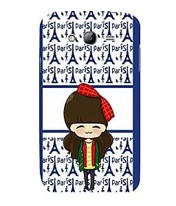 printtech Paris Girl Ribbon Back Case Cover for Samsung Galaxy Grand Neo::Samsung Galaxy Grand Neo i9060