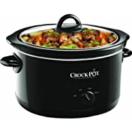 Jarden Consumer Solutions SCR500-B Rival 5 Qt Round Manual Black Crock Pot Slow Cooker
