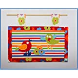 HAND MADE DESIGNER FABRIC BABY NURSERY WALL HANGING WITH APPLIQUEby Lizzy-lou