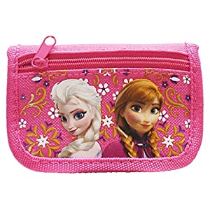 Disney Frozen Anna and Elsa Hot Pink Trifold Wallet from Disney
