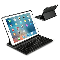 Apple ipad Air 2 Keyboard Cover - Inateck Ultra-Slim Wireless Bluetooth Keyboard Case with Auto Wake / Sleep Function and Multi-Angle Stand for Apple iPad Air 2 - Black