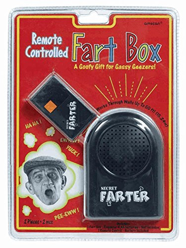 "Amscan Comical Remote Control Fart Box, Black, 4 1/4"" x 3 1/4"""