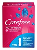 Carefree Acti-Fresh Ultra-Thin Panty Liners, Regular, Unscented - 120 Count