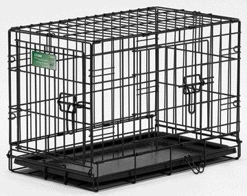 I-Crate Double Door, Color: Black; Size: 30 Inch/ Double (Catalog Category: Dog:Crates) front-42265