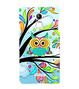 Colourful owl Back Case Cover for Coolpad Note 3