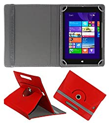 ACM ROTATING 360° LEATHER FLIP CASE FOR NOTION INK CAIN 8 TABLET STAND COVER HOLDER RED
