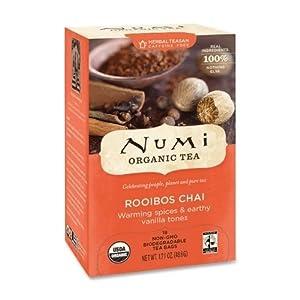 Numi Organic Tea, Rooibos Chai Herbal Teasan, 18-Count Tea Bags (Pack of 3) by Numi