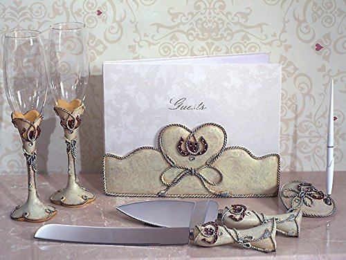 Lucky in Love Western Theme Collection 7 Piece Wedding Accessory Set