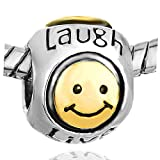 Mothers Day Gifts Pugster Smile Heart Live Love Laugh European Beads Fits Pandora Charm Bracelet