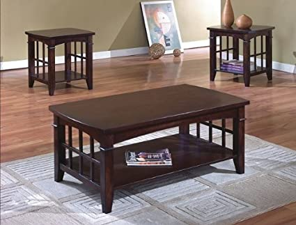 Brand New 3-pk Camino Coffee Table and End Tables Cocktail set Espresso Finish
