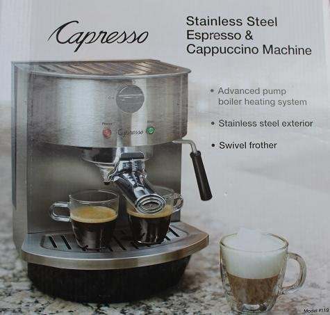 Buy Discount Capresso Stainless Steel Espresso & Cappuccino Machine