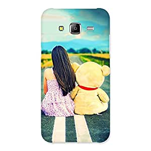 Stylish Girl Teddy Multicolor Back Case Cover for Samsung Galaxy J5