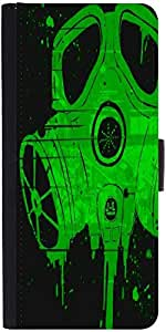 Snoogg Smoke maskDesigner Protective Flip Case Cover For One Plus One