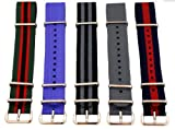 20mm (Set of 5) James Bond Nylon Nato Ballistic Military Watch Band Strap