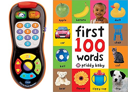 VTech Click and Count Remote & First 100 Words Playset Toy for Kids, 2 Pack