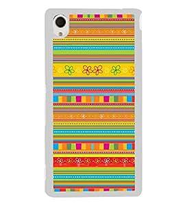 Colourful Pattern 2D Hard Polycarbonate Designer Back Case Cover for Sony Xperia M4 Aqua :: Sony Xperia M4 Aqua Dual
