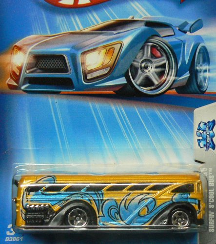 Tag Rides Series #3 Surfin S'Cool Bus Black Base #2004-140 Collectible Collector Car Mattel Hot Wheels 1:64 Scale