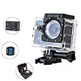 DMYTC F60R 4K 1600万画素 リモコン付き ウェアラブルカメラ スポーツカメラ WIFT搭載   防水カメラ