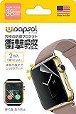 Wrapsol(ラプソル)擦れ傷・割れ防止 衝撃吸収フィルム Apple Watch対応【2枚入り】(38mm) A005-IWC38