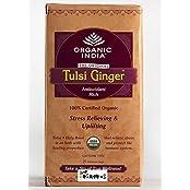 Organic India Organic Tulsi Ginger Tea (25 Tea Bags)