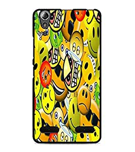 PrintDhaba Emoticons D-5581 Back Case Cover for LENOVO A6000 PLUS (Multi-Coloured)