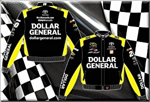 2014 Matt Kenseth Dollar General Mens Black Twill NASCAR Jacket Large by J.H. Design