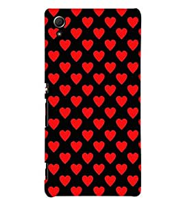 printtech Love Heart Pattern Back Case Cover for Sony Xperia Z3 Plus / Sony Xperia Z3+