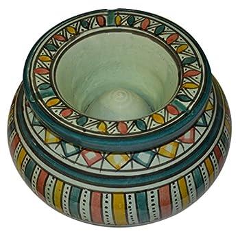 Moroccan Handmade Ceramic Ashtrays Smokeless Exquisite Extra Large Glazes