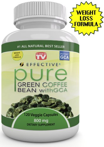 Effective GREEN COFFEE BEAN Extract - As Seen On Dr Oz - MAX STRENGTH FAT BURNER - Pure Premium Formula - FAST WEIGHT LOSS - 4800 mg Daily -