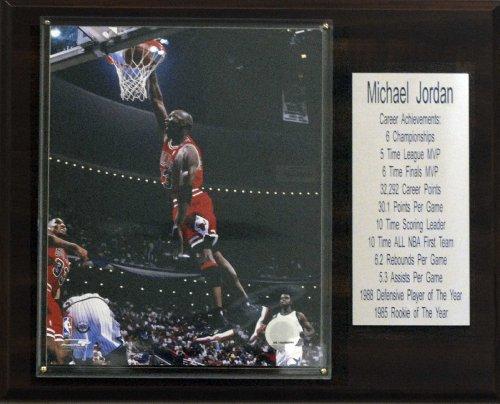 NBA Michael Jordan Chicago Bulls Stat Plaque