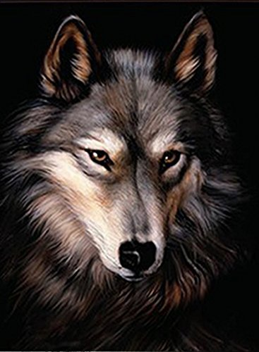 LONE WOLF 3D UNFRAMED Holographic Wall Art--Lenticular Technology Causes The Artwork To Have Depth and Move-HOLOGRAM Style Images-HOLOGRAPHIC Optical Illusions By THOSE FLIPPING PICTURES (African Safari Pictures compare prices)