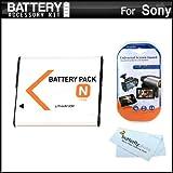 Battery Kit For Sony Cyber-Shot DSC-W530, DSC-W620, DSC-W650, DSC-W610 Digital Camera Includes Extended Replacement (1100Mah) NP-BN1 Battery + LCD Screen Protectors + MicroFiber Cleaning Cloth ~ ButterflyPhoto