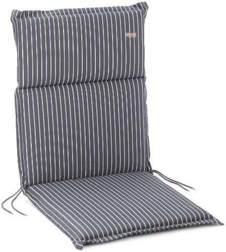 Sieger 5624 4729 Cushion for Recliner Chair 100 % Teflon-Coated Cotton 108 x 49 x 4 cm Grey / White Stripes