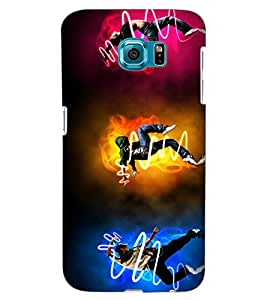 ColourCraft Dance Freaks Design Back Case Cover for SAMSUNG GALAXY S6 EDGE G925