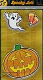 Halloween Spooky Jelz Set of 3 Gel Window Clings - Jack O Lantern, Ghost, & Candy Corn
