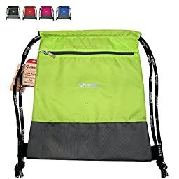 XIANGYI Multifunction Gym Sack Bag Drawstring Backpack (green)